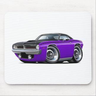 1970 Cuda AAR Purple-Black Top Car Mouse Pad