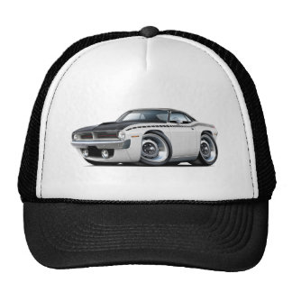 1970 Cuda AAR White-Black Top Car Trucker Hat