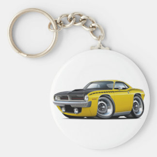 1970 Cuda AAR Yellow Car Keychain