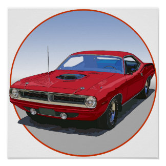 1970 Cuda Coupe Poster