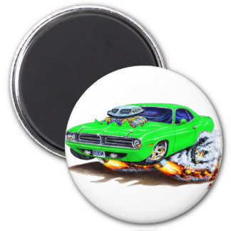 1970 Cuda Green Car Magnet