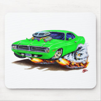 1970 Cuda Green Car Mouse Pad