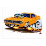 1970 Cuda Orange Car Postcard