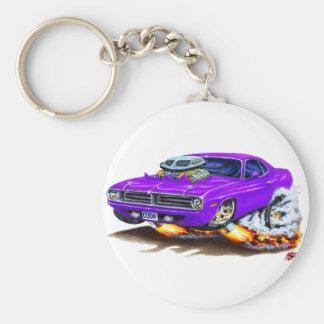 1970 Cuda Purple Car Key Chain
