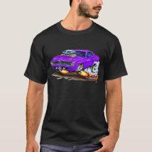 1970 Cuda Purple Car T-Shirt