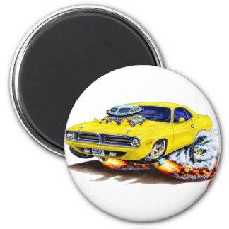 1970 Cuda Yellow Car Magnet