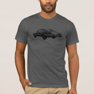 1970 Cutlass black line art on colored t-shirt