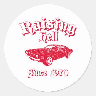 1970 Dodge Challenger Classic Round Sticker