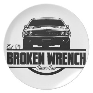 1970 Dodge Challenger Service Shop Melamine Plate