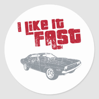 1970 Dodge Challenger Round Sticker