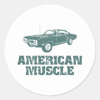 1970 Dodge Super Bee 400 Round Stickers