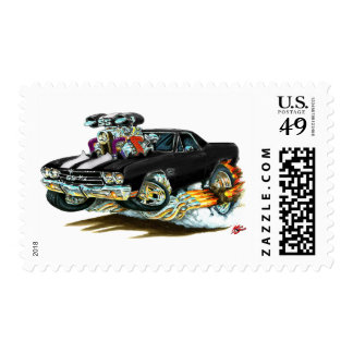 1970 El Camino Black-White Truck Postage Stamps