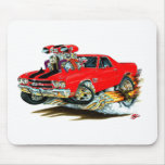 1970 El Camino Red-Black Truck Mouse Pads