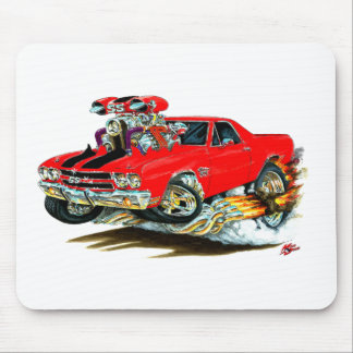 1970 El Camino Red-Black Truck Mouse Pad