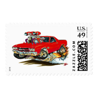 1970 El Camino Red Truck Stamp