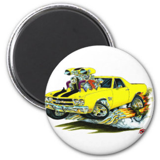 1970 El Camino Yellow-Black Truck Magnet