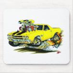 1970 El Camino Yellow-Black Truck Mouse Pad