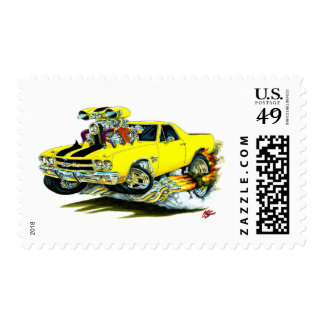 1970 El Camino Yellow-Black Truck Stamps