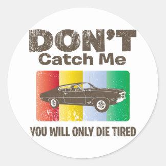 1970 Ford Torino Cobra 429 Round Sticker