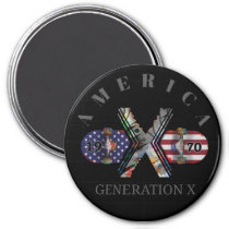 1970 Generation X American Skateboard Magnet