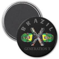 1970 Generation X Brazilian Skateboard Magnet