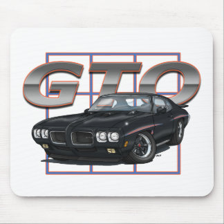 1970 GTO Black Mouse Pad