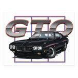1970 GTO Black Post Cards
