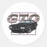 1970 GTO Black Round Sticker