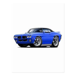 1970 GTO Blue-Black Top Postcard