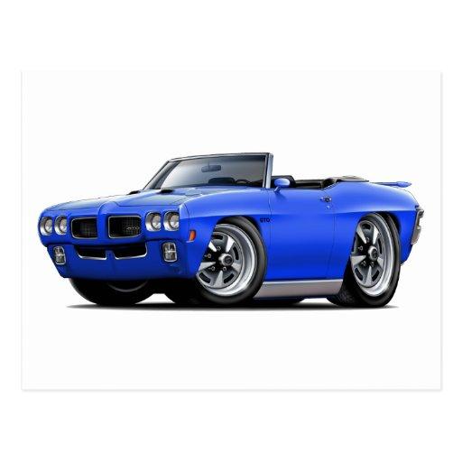 1970 GTO Blue Convertible Postcard