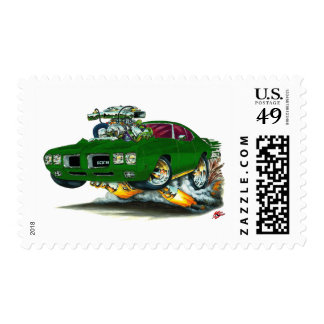 1970 GTO Green Car Postage Stamps