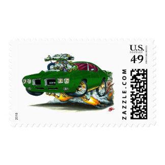 1970 GTO Green Car Stamp