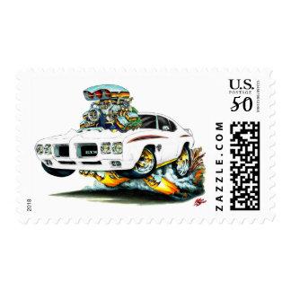 1970 GTO Judge White Car Postage