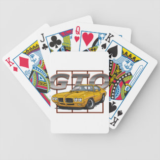 1970 GTO Orbit Orange Bicycle Playing Cards