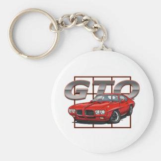 1970 GTO Red Keychain