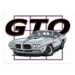 1970 GTO Silver Post Card