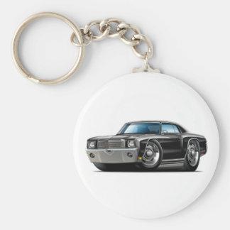 1970 Monte Carlo Black Car Keychain
