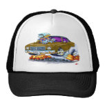 1970 Monte Carlo Brown Car Mesh Hats