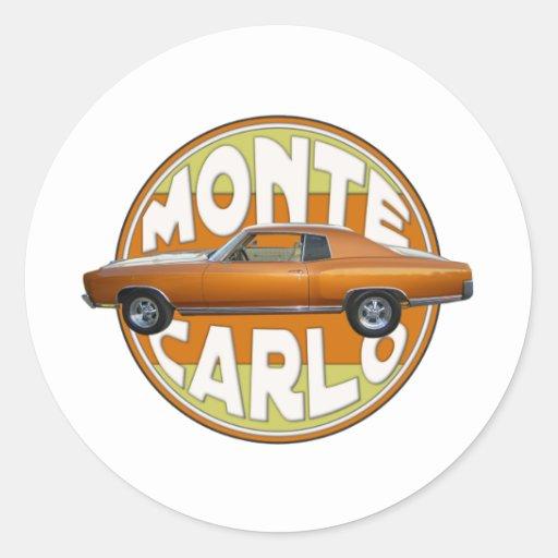 1970 monte carlo copper camel classic round sticker