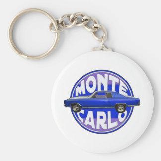 1970 monte carlo midnight blue keychain