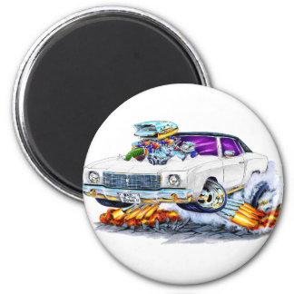 1970 Monte Carlo White Car Magnet
