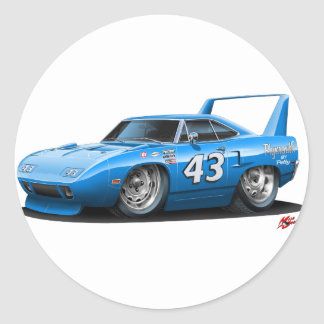 1970 Nascar Superbird Petty Classic Round Sticker