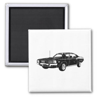 1970 Plymouth Barracuda 2 Inch Square Magnet
