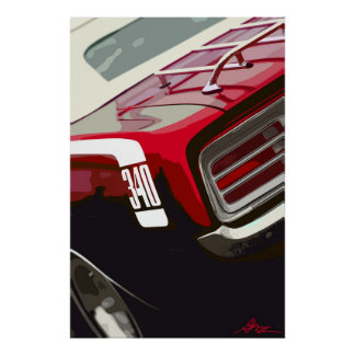 1970 Plymouth Cuda 340 Poster