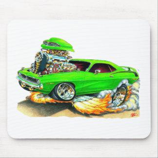 1970 Plymouth Cuda Green Car Mouse Pad