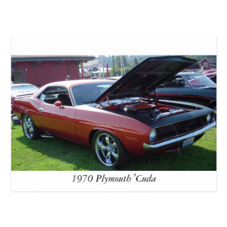 1970 Plymouth 'Cuda Postcard