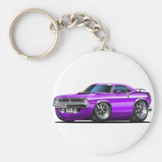 1970 Plymouth Cuda Purple Car Key Chain