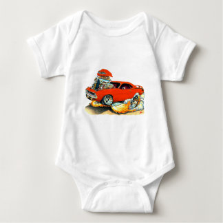 1970 Plymouth Cuda Red Car Baby Bodysuit