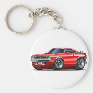 1970 Plymouth Cuda Red Car Keychain