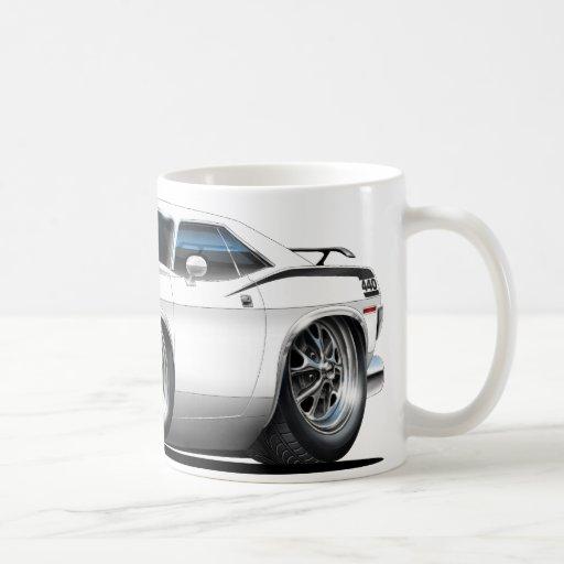 1970 Plymouth Cuda White Car Mug